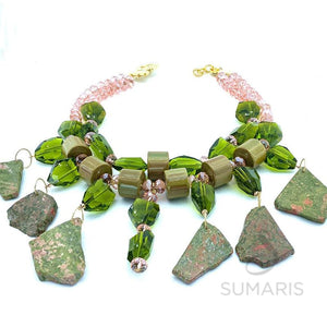 STONE COLD OOAK STATEMENT NECKLACE