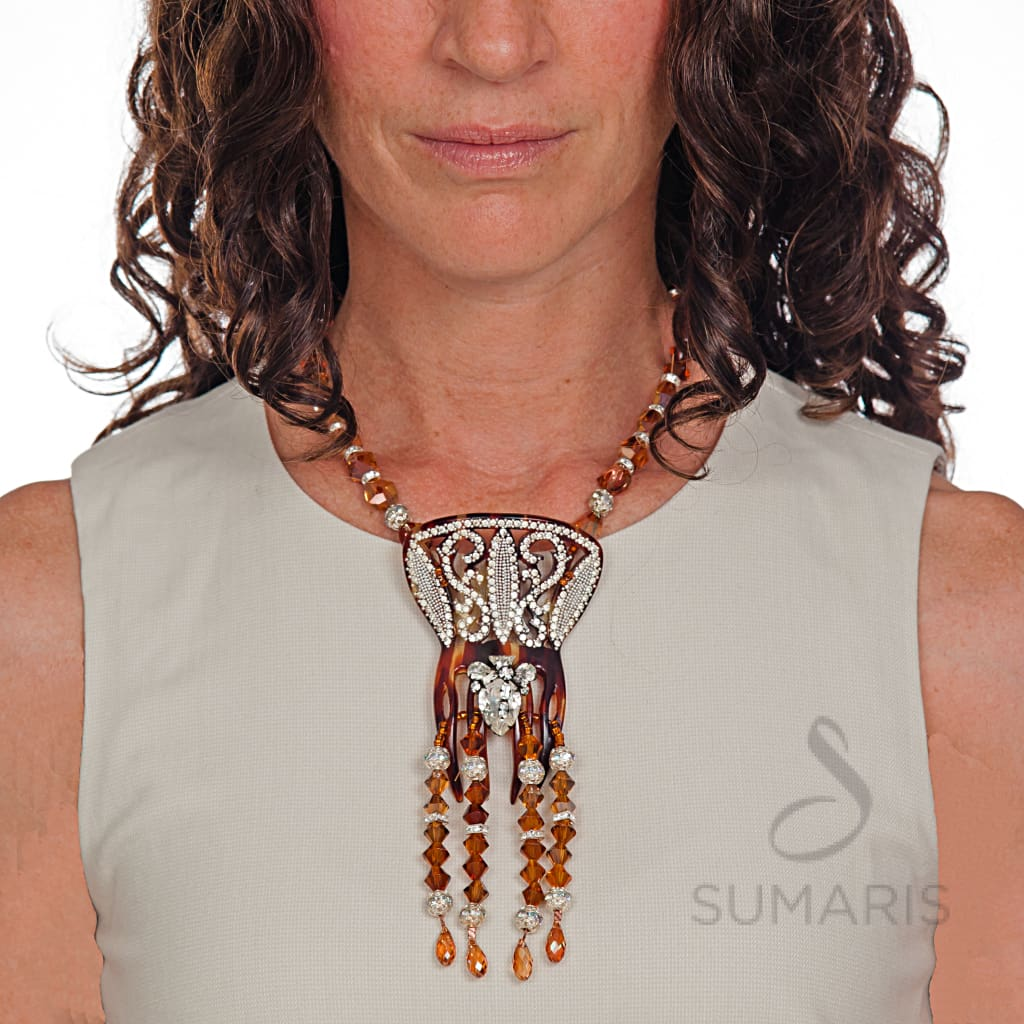 TANGO Necklace SUMARIS | NEW YORK Amber / Brown Costume Jewelry Necklaces Vintage Brooch $275.00 SUMARIS | NEW YORK