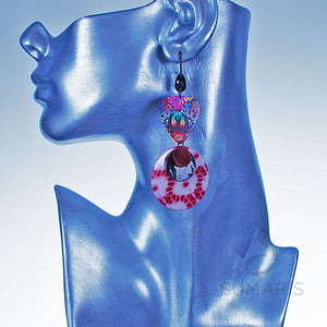 Tie Dyed Earrings