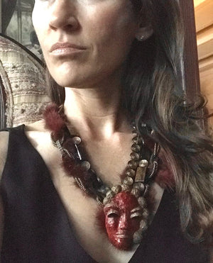 UNMASKED OOAK STATEMENT NECKLACE