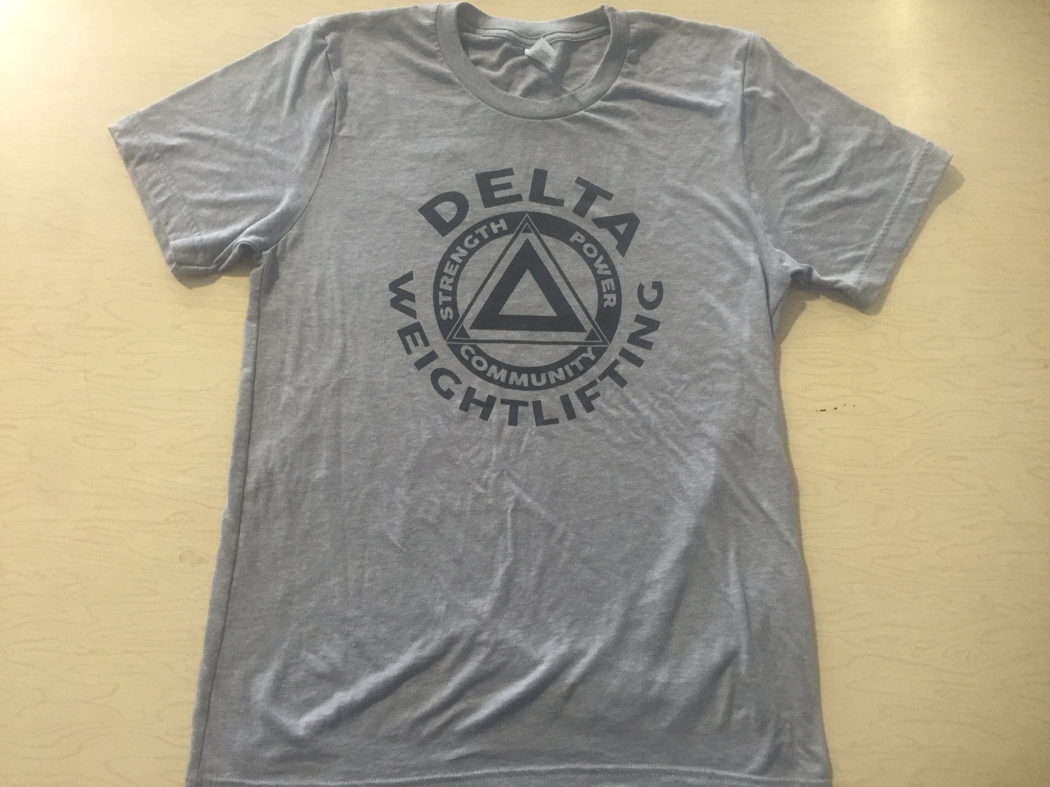 DELTA Weightlifting Tri-Blend Athletic Gray Unisex Shirt