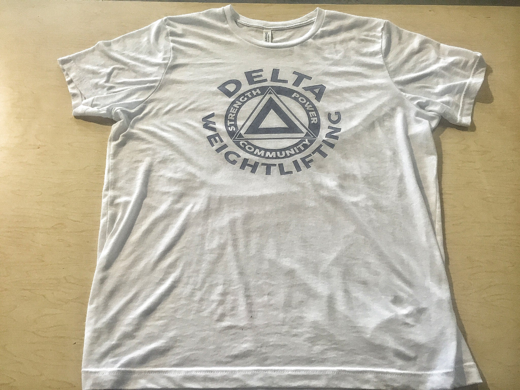 DELTA Weightlifting Tri-Blend White Unisex Shirt