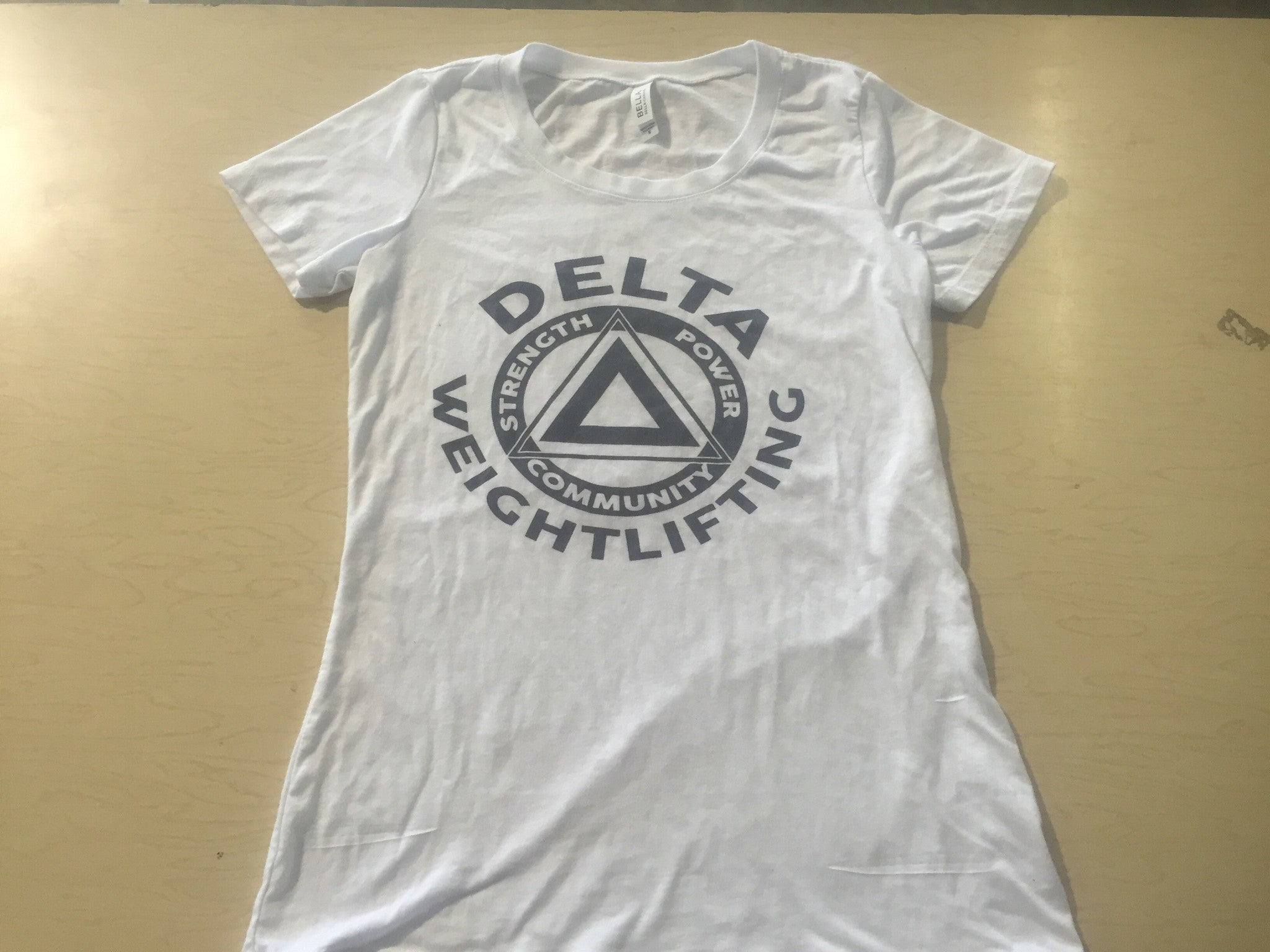 DELTA Weightlifting Tri-Blend White Women's Shirt