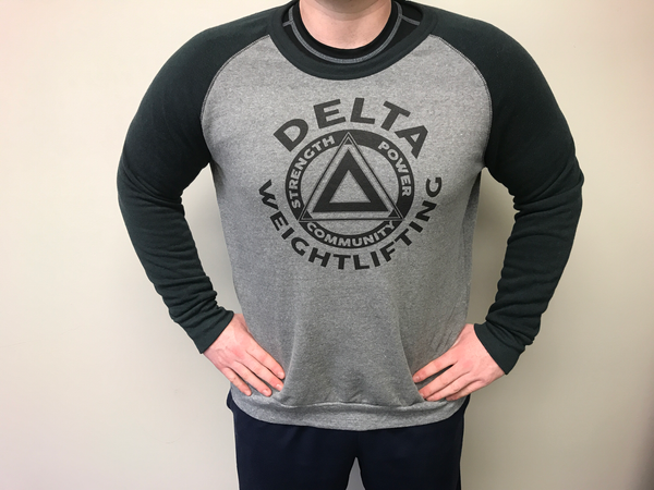 DELTA Weightlifting Crew-neck Eco-Fleece Sweatshirt (Unisex)