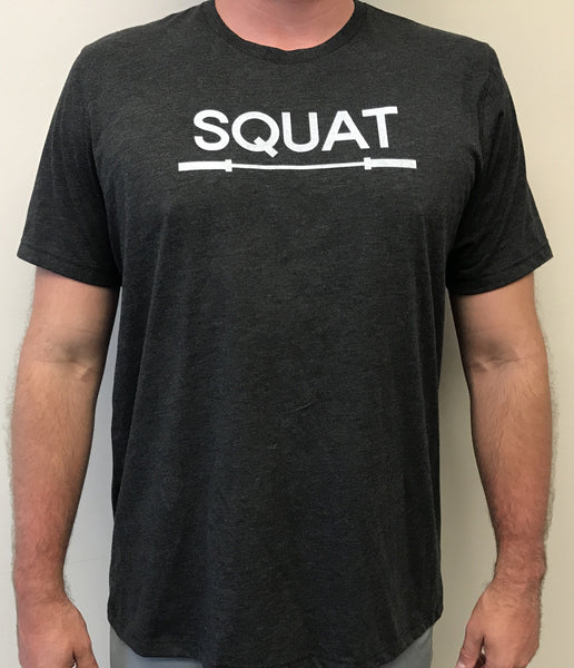 """SQUAT"" Tri-Blend Crew (Charcoal Black Unisex)"