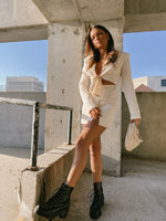 French press blazer dress