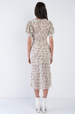 spring mornings midi dress