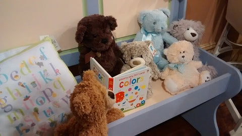 Teddy Bears reading a storybook