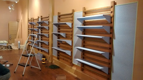 The shelves are up!