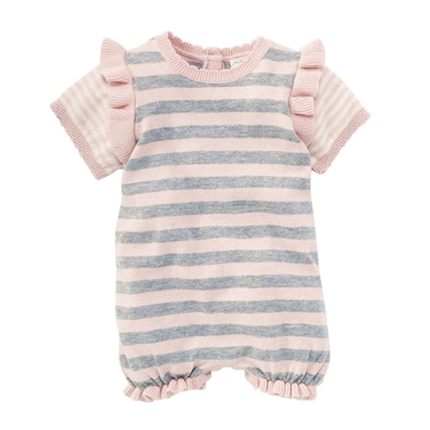 Mud Pie Pink Stripe Knitted Bubble