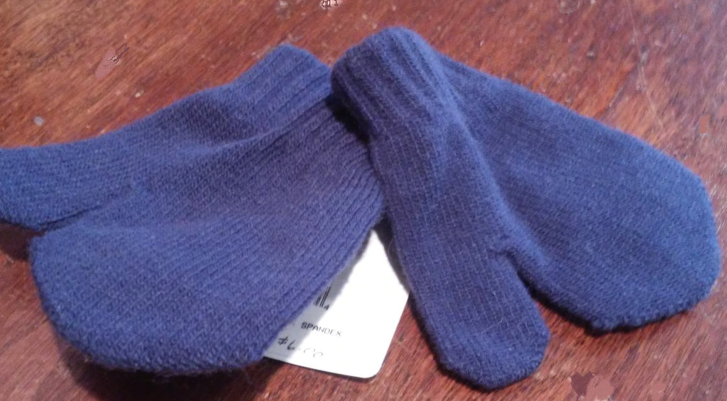 Creative Knitwear Navy Toddler Mittens