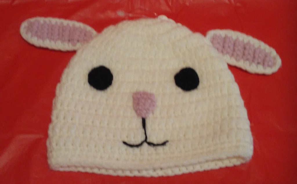 K&K Interiors Crochet Knit Hat Bunny