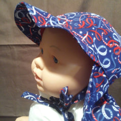 Courtney's Creations Handmade Flap Sun Hat 052819C