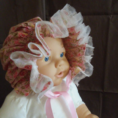 Courtney's Creations Handsmocked Bonnet 051619R