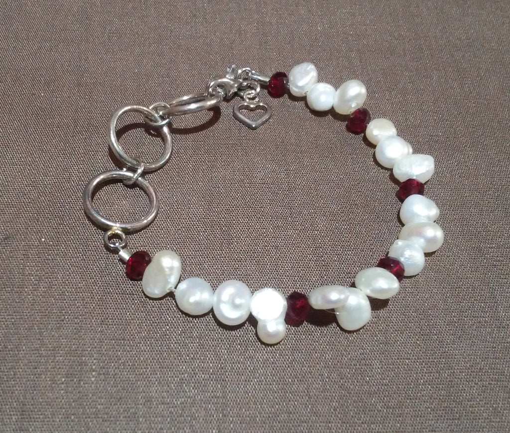 Coastal Skies Creations January Birthstone Infant Bracelet 041419A