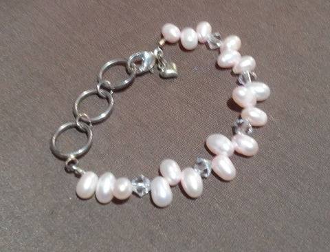 Coastal Skies Creations April Birthstone Infant Bracelet 041419G