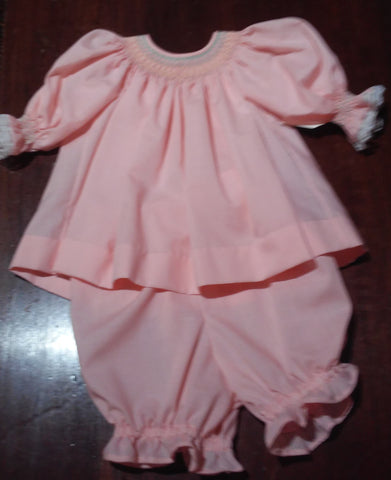 Courtney's Creations Smocked Bishop Dress with Bloomers 051519G