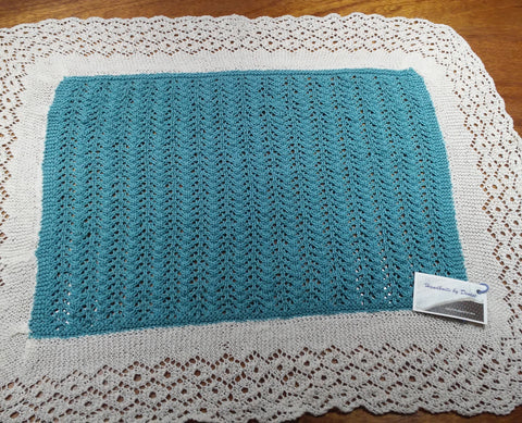Hand Knit by Denise Small Blanket
