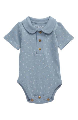 L'ovedbaby Organic Cotton Polo Bodysuit Short Sleeve