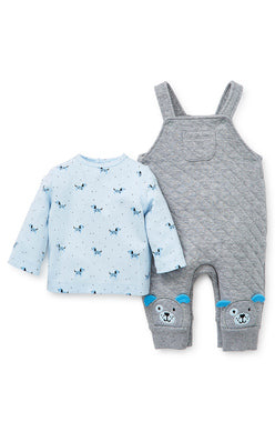 Little Me Puppy Overall Set