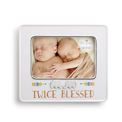 "Nat & Jules Twice Blessed Frame 4"" x 6"""
