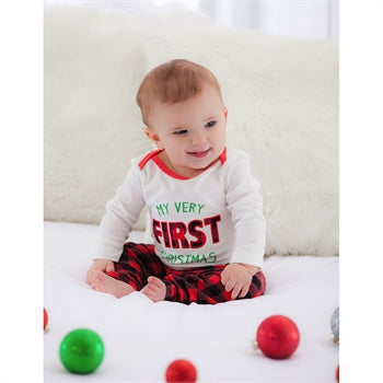 Evergreen My Very First Christmas Bodysuit & Pant Set
