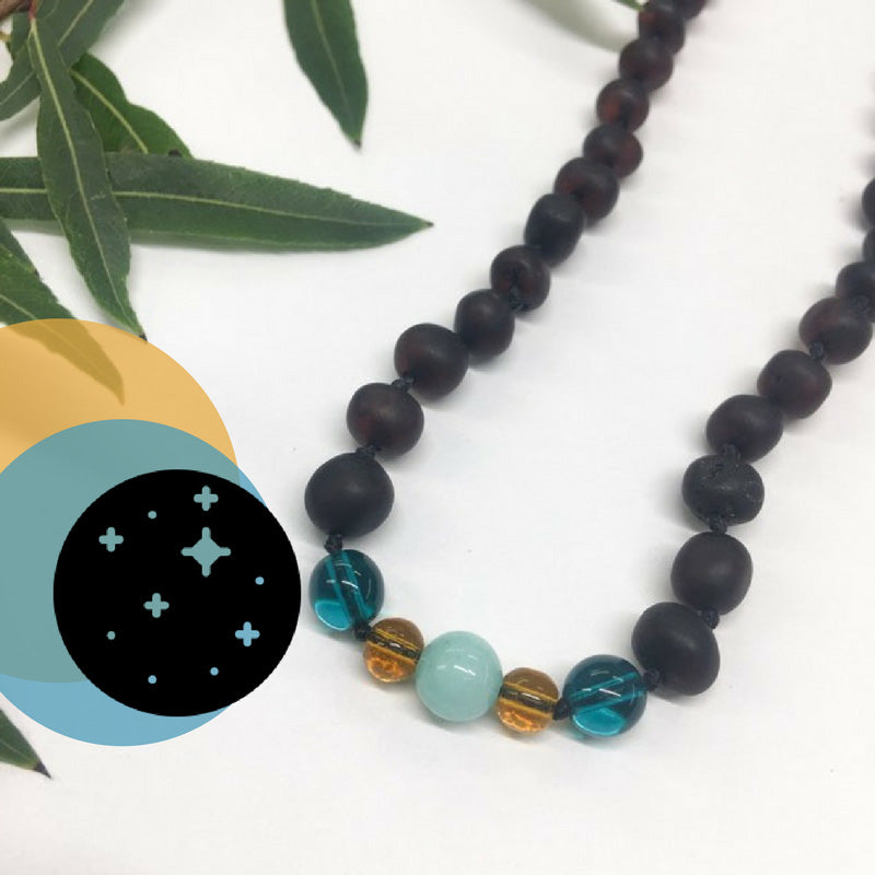 Limited Edition Amber & Gemstone Necklaces from Healing Hazel