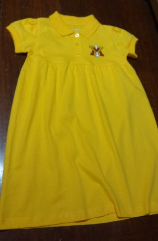 Creative Knitwear VMI Yellow Polo Dress