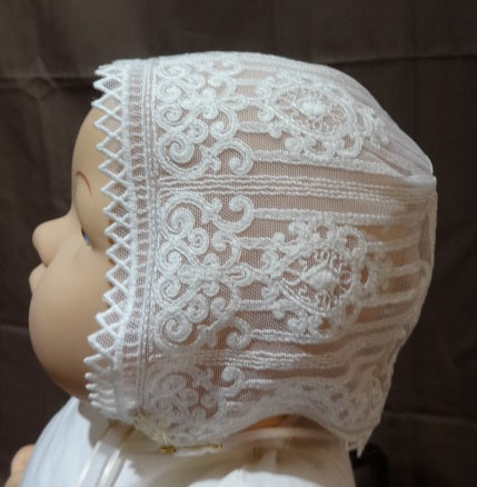Courtney's Creations Handmade Vintage Lace Bonnet 061919C