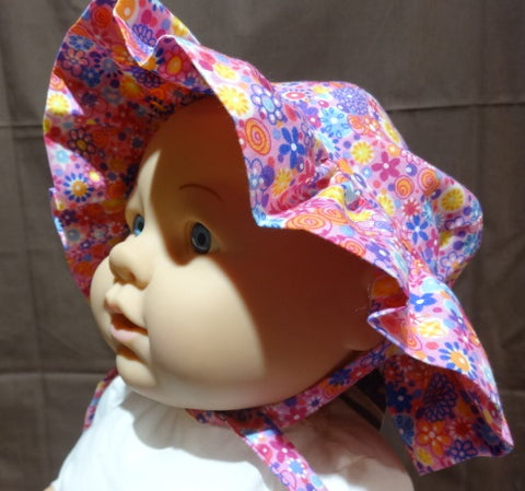 Courtney's Creations Sun Hat with Ruffle Brim 061919B