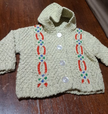 Hand Knit by Denise Hooded Sweater