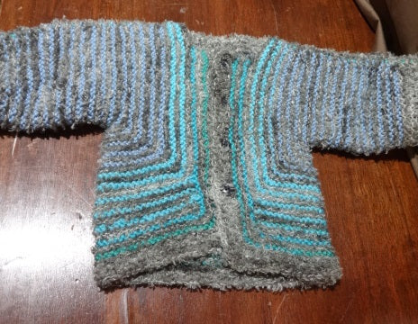 Hand Knit by Denise Baby Surprise Sweater Jacket 052119A