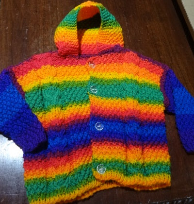 Hand Knit by Denise Hooded Sweater 052119Z