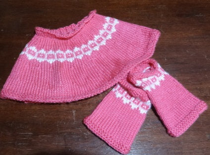 Hand Knit by Denise Poncho with Leg Warmers 052119O