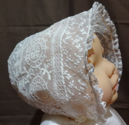 Courtney's Creations Lace and Tulle Bonnet 051719H