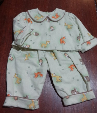 Courtney's Creations Flannel Lined 2 Piece Outfit 051719I