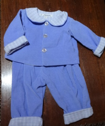 Courtney's Creations Flannel Lined Corduroy 2 Piece Outfit 051719U