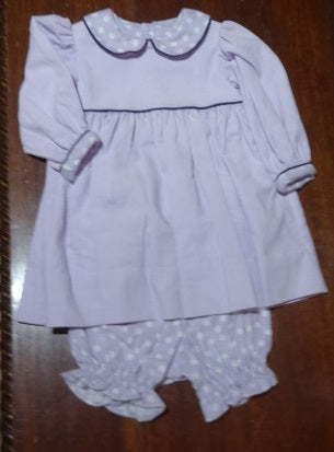 Courtney's Creations Corduroy and Flannel Dress with Bloomers 051719W