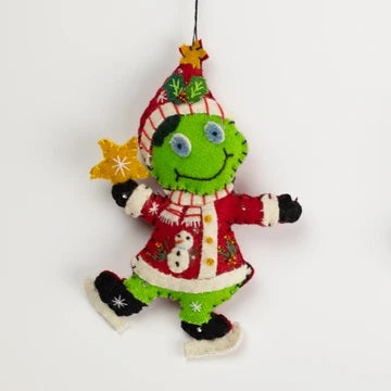 Apple Pie Publishing Fred the frog Handmade Ornament