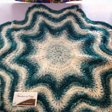 Hand Knit by Denise Stroller Blanket 052219U