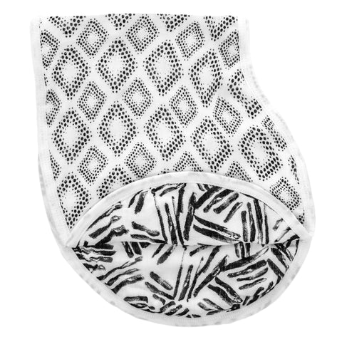 Aden & Anais Silky Soft Burpy Bib - In Motion Diamonds