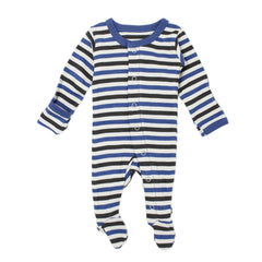 L'ovedbaby Organic Cotton Footie Striped