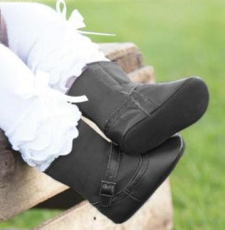 K&K Interiors Girls Boots Black