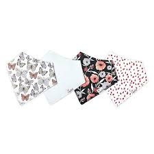 Copper Pearl 4-pack Bandana Bib - Dot