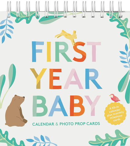 Chronicle  First Year Baby Calendar & Photo Prop Cards