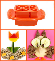 Funbites Food Cutters - Triangles - Orange - Baby's First Gifts - 9