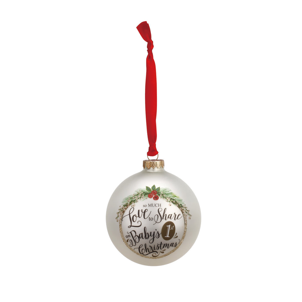 DEMDACO Baby's 1st Christmas Glass Ball Ornament