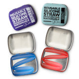 SiliKids Silistraw with Travel Case - Silicone Reusable Straw