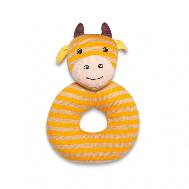 Apple Park Farm Buddies Organic Teething Rattles - George Giraffe