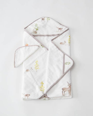 Little Unicorn Hooded Towel Set - Oh Deer